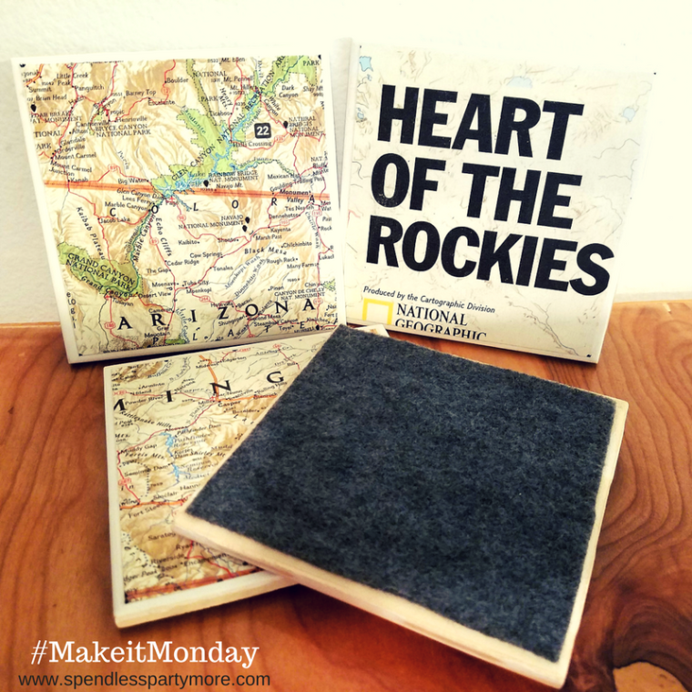 #MakeitMonday - coaster party favors