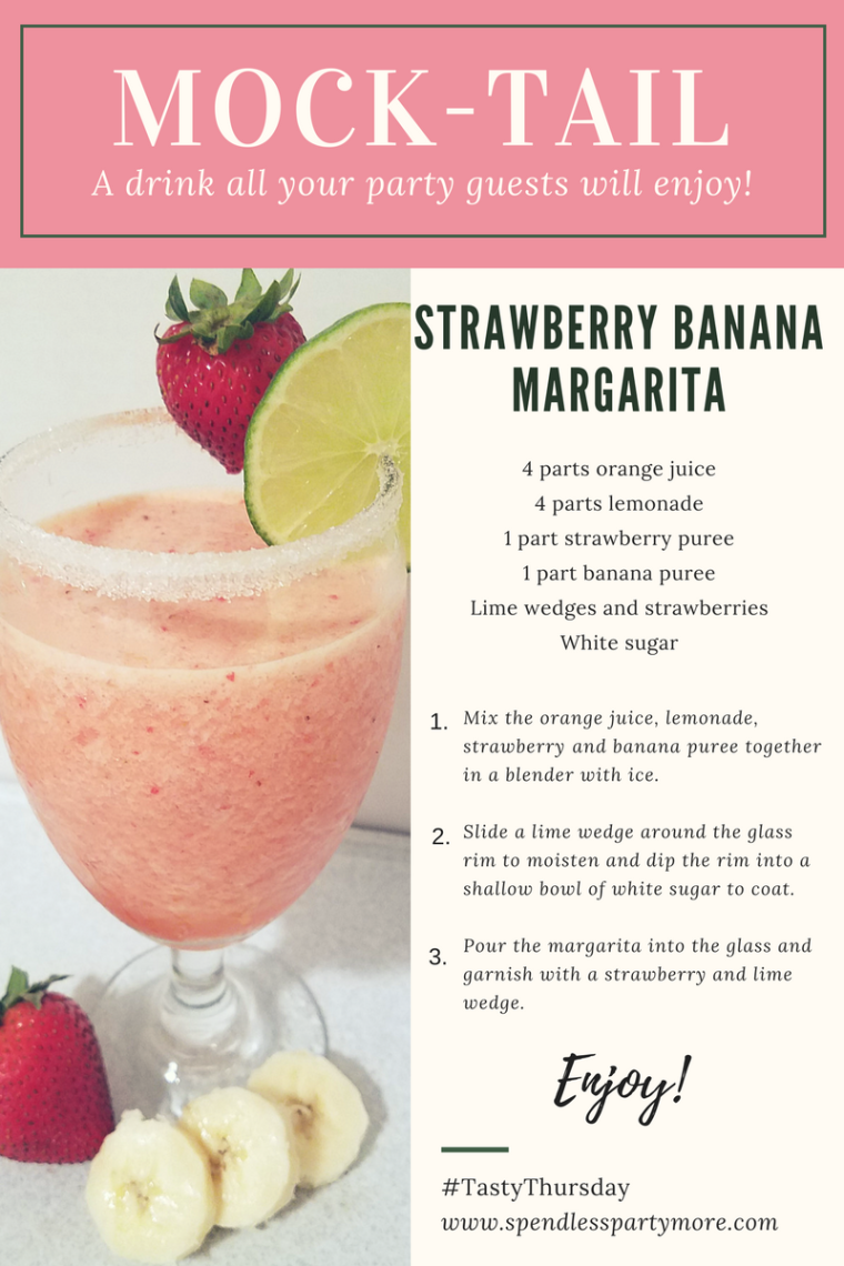 Mock-tail- Strawberry Banana Margarita