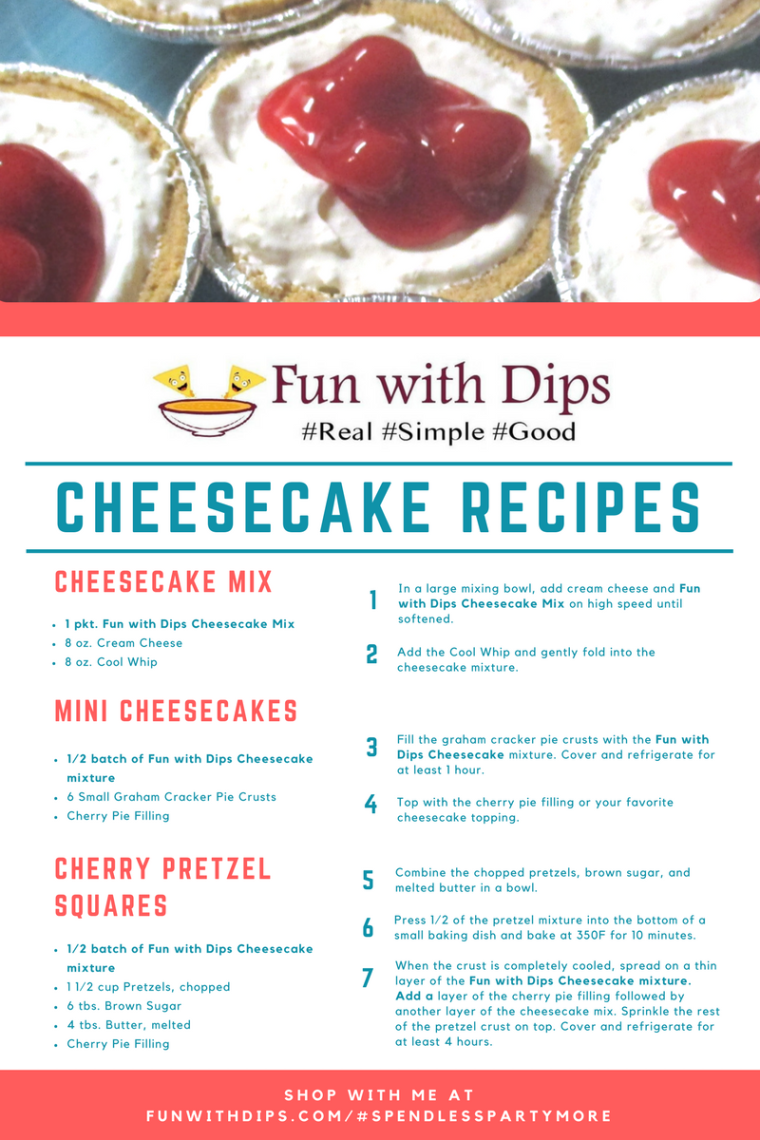 Recipe_ Fun with Dips Cheesecake Recipes
